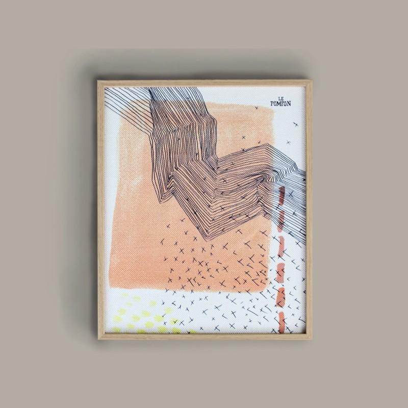 "Illustration textile ""Strate"""