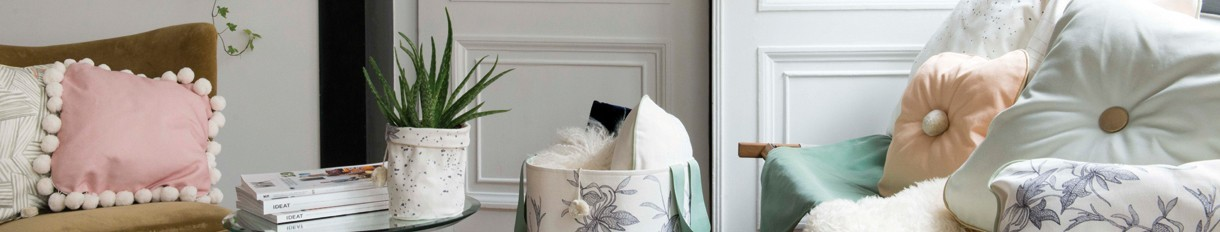 Coussin en tissu   Le Pompon   Fabriqué en France