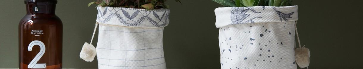 Panier en tissu   Le pompon   Fabriqué en France