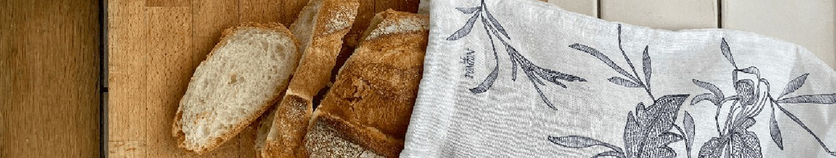 Sacs à pain et sacs de conservation en lin réutilisables   Le Pompon